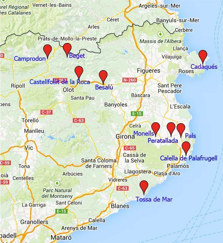 10 De Los Pueblos Mas Bonitos De Girona Mapa De Espana Girona