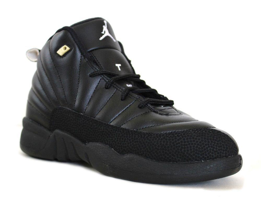 NIKE AIR Jordan Retro 12 XII THE MASTER Black 130690-013 PS TD KIDS BABY 4C-7Y
