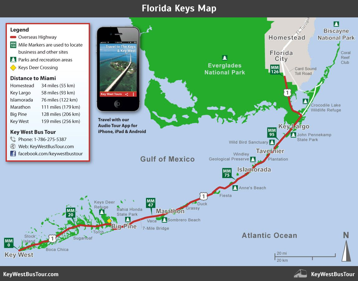 florida keys map  key west attractions map  florida  places to  - florida keys map  key west attractions map