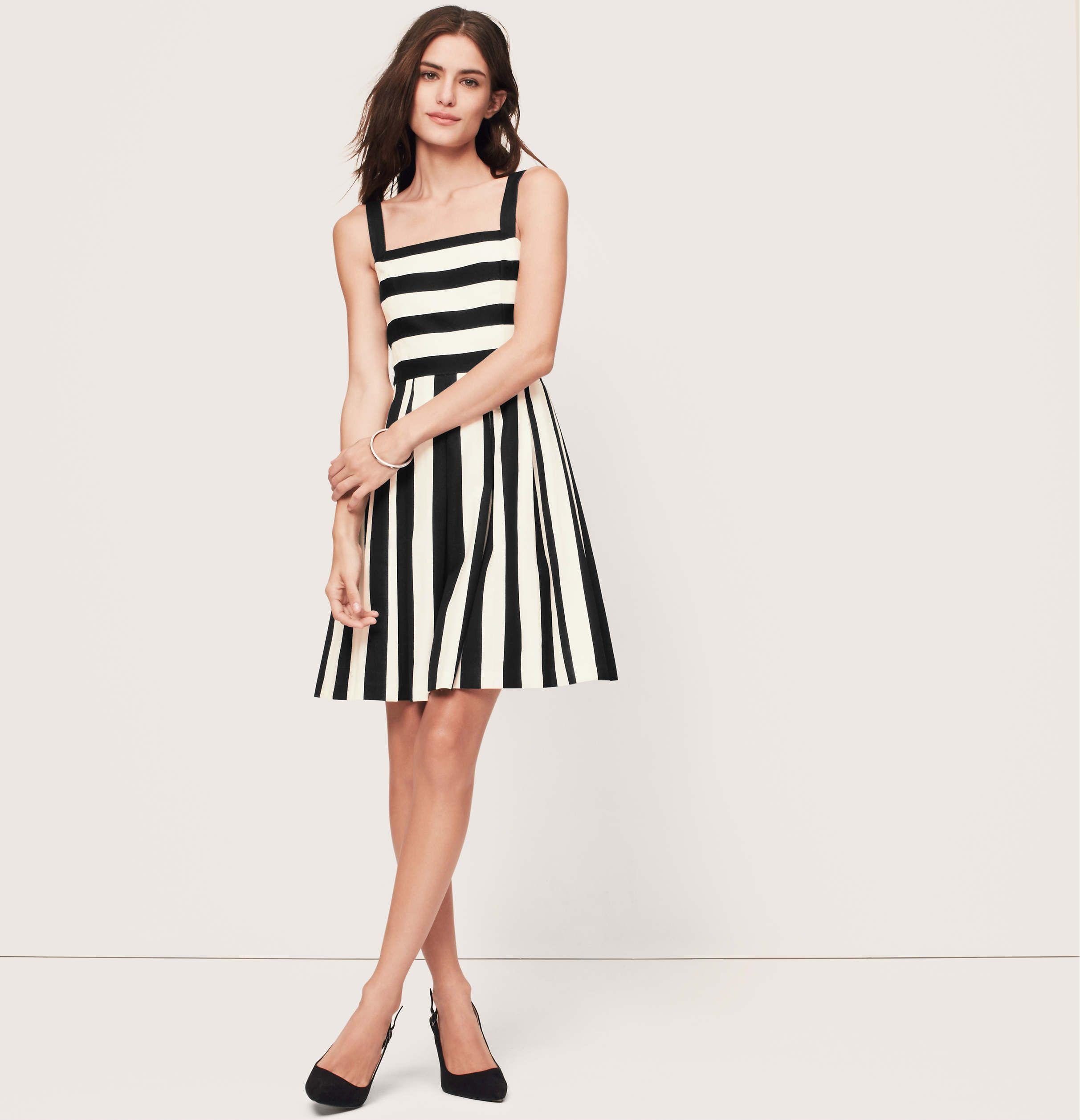 e9b2d9338e Stripe Pleated Cotton Linen Dress