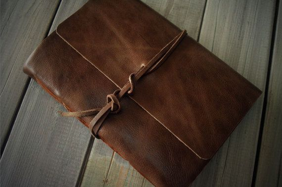 Personalized Photo Album Rustic Leather Photo Album Hand Stitched
