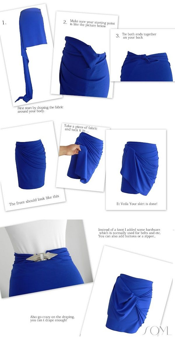 Spring Ready No-Sew Skirts | For Women--This is just adorable.  ♥♥♥