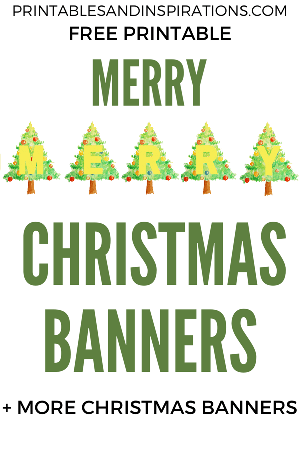 Merry Christmas Letter Banner Printable.Free Printable Merry Christmas Banners All From Printables
