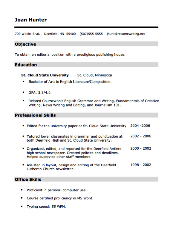 Prestigious Publishing House Resume  HttpResumesdesignCom
