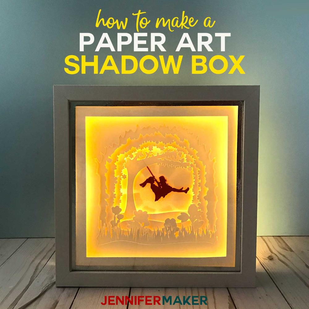 Shadow Box Paper Art Template to Customize Paper art diy