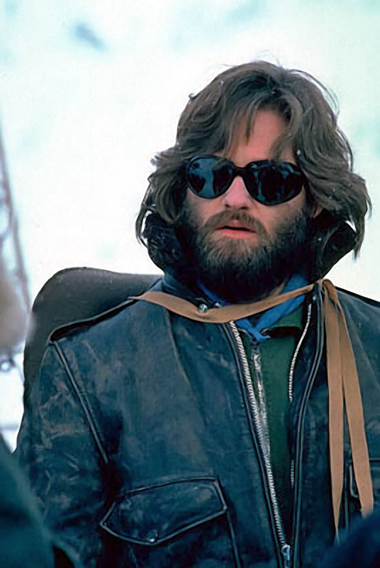 Kurt Russell, king of bearded coolness in The Thing (1982