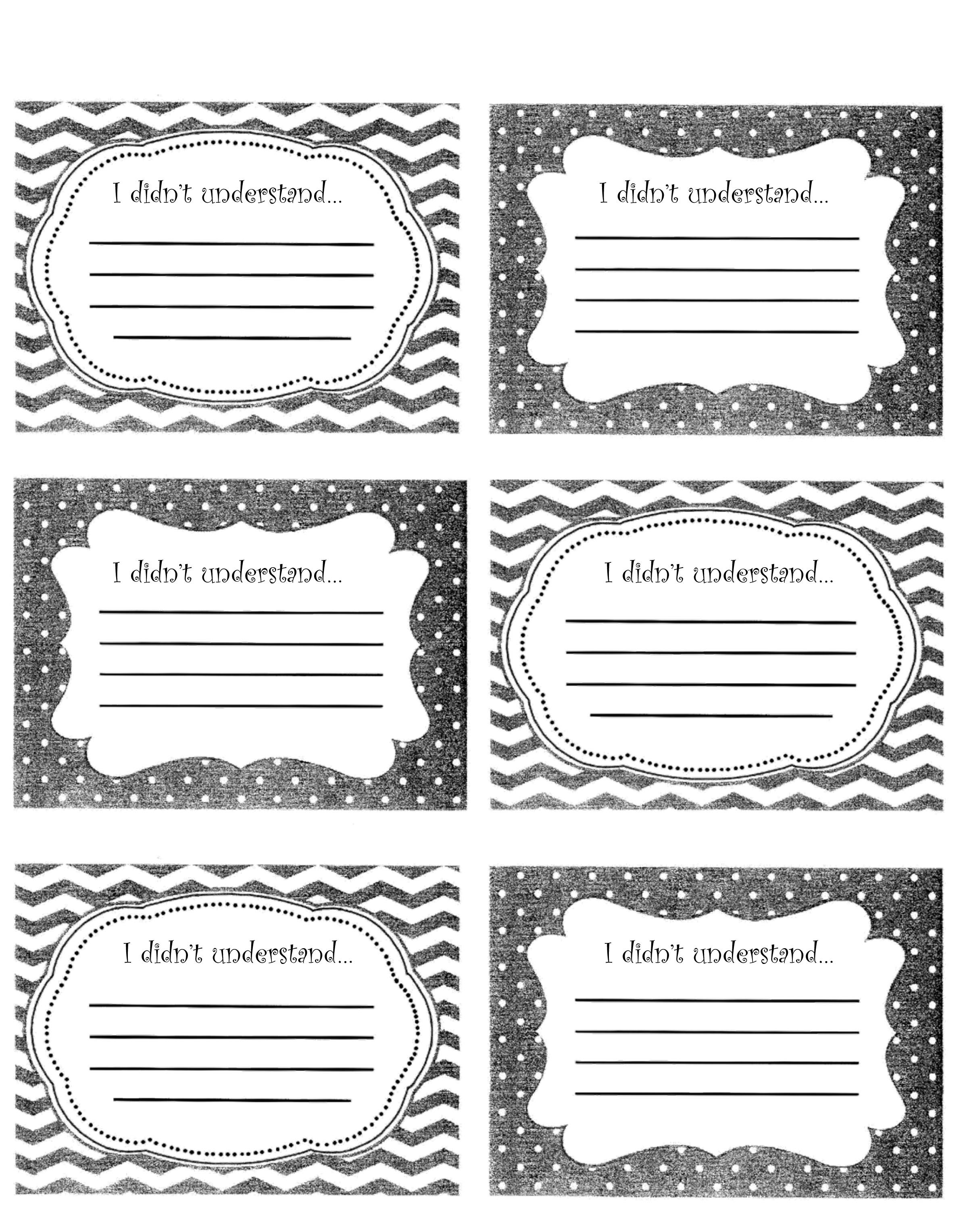 Image Result For Exit Slips For High School
