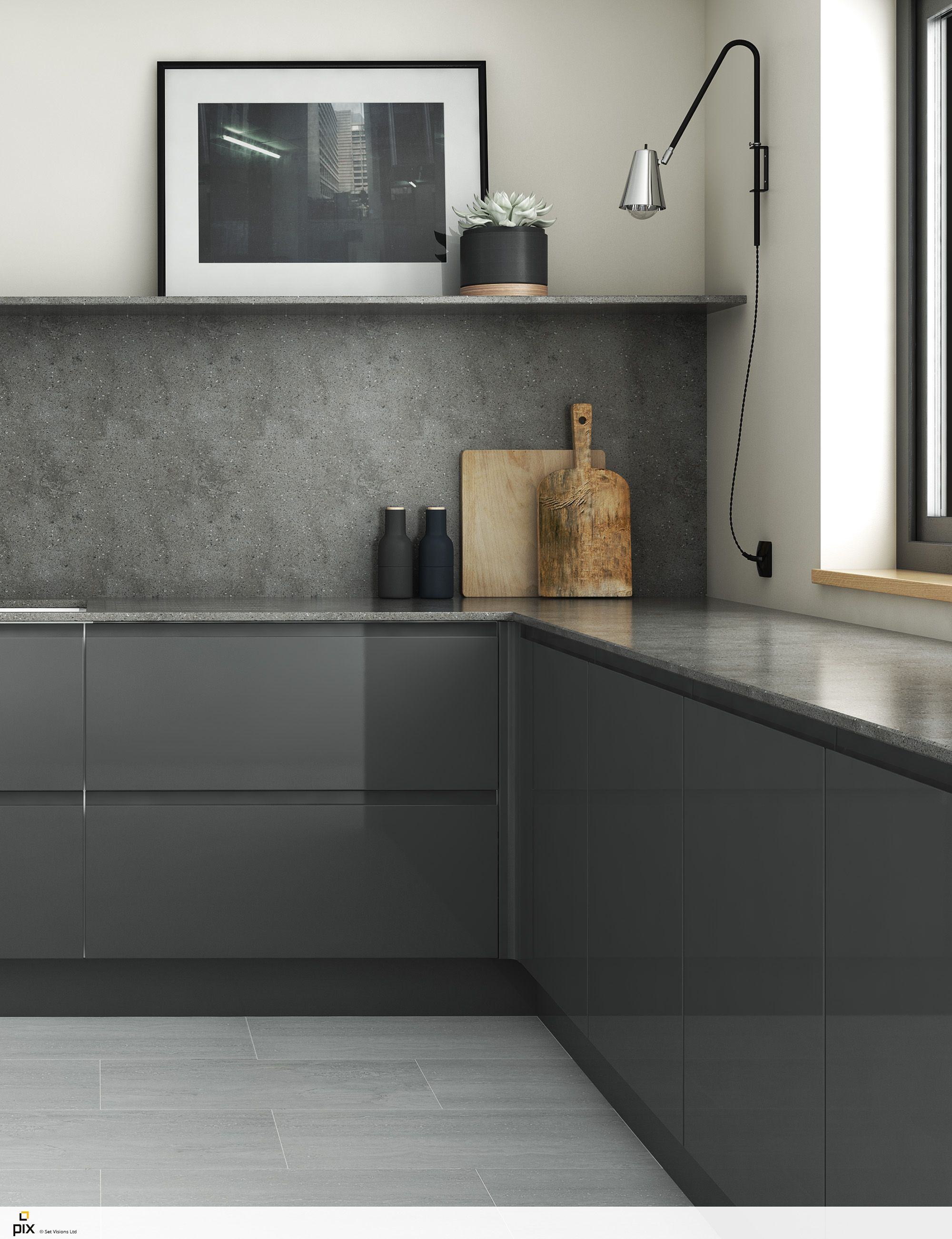 Proving that simple is beautiful This on trend kitchen relies on ...