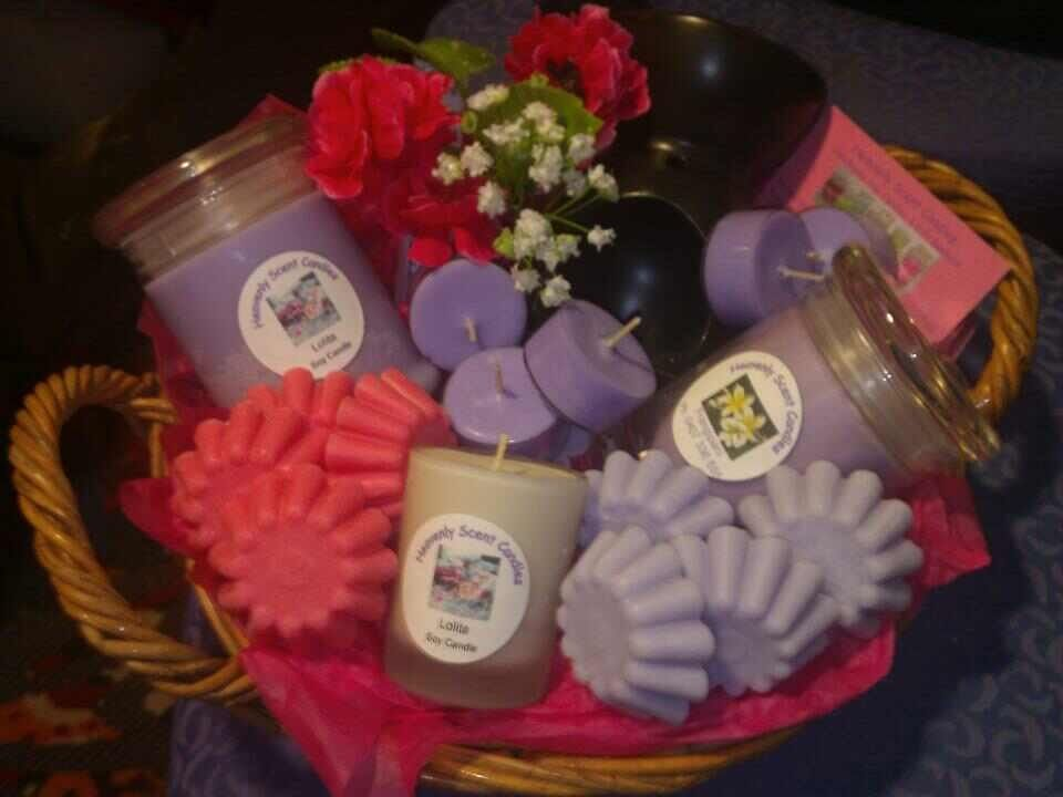 Mothers Day baskets at Heavenly Scent Candles