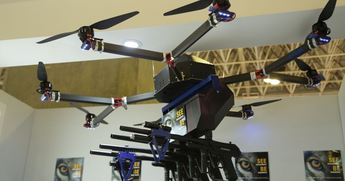 Company Says Governments Are Deploying Weaponized Drones For Crowd Control