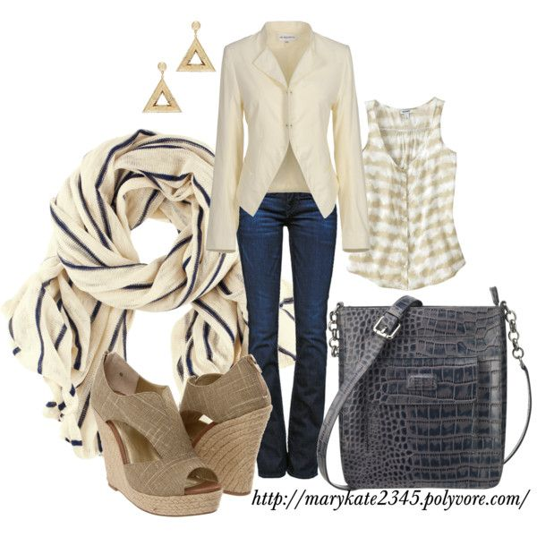 Cream Jacket, created by marykate2345 on Polyvore