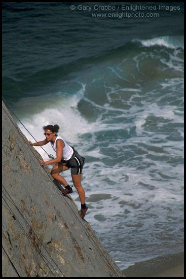 Rock Climbing at the beach!