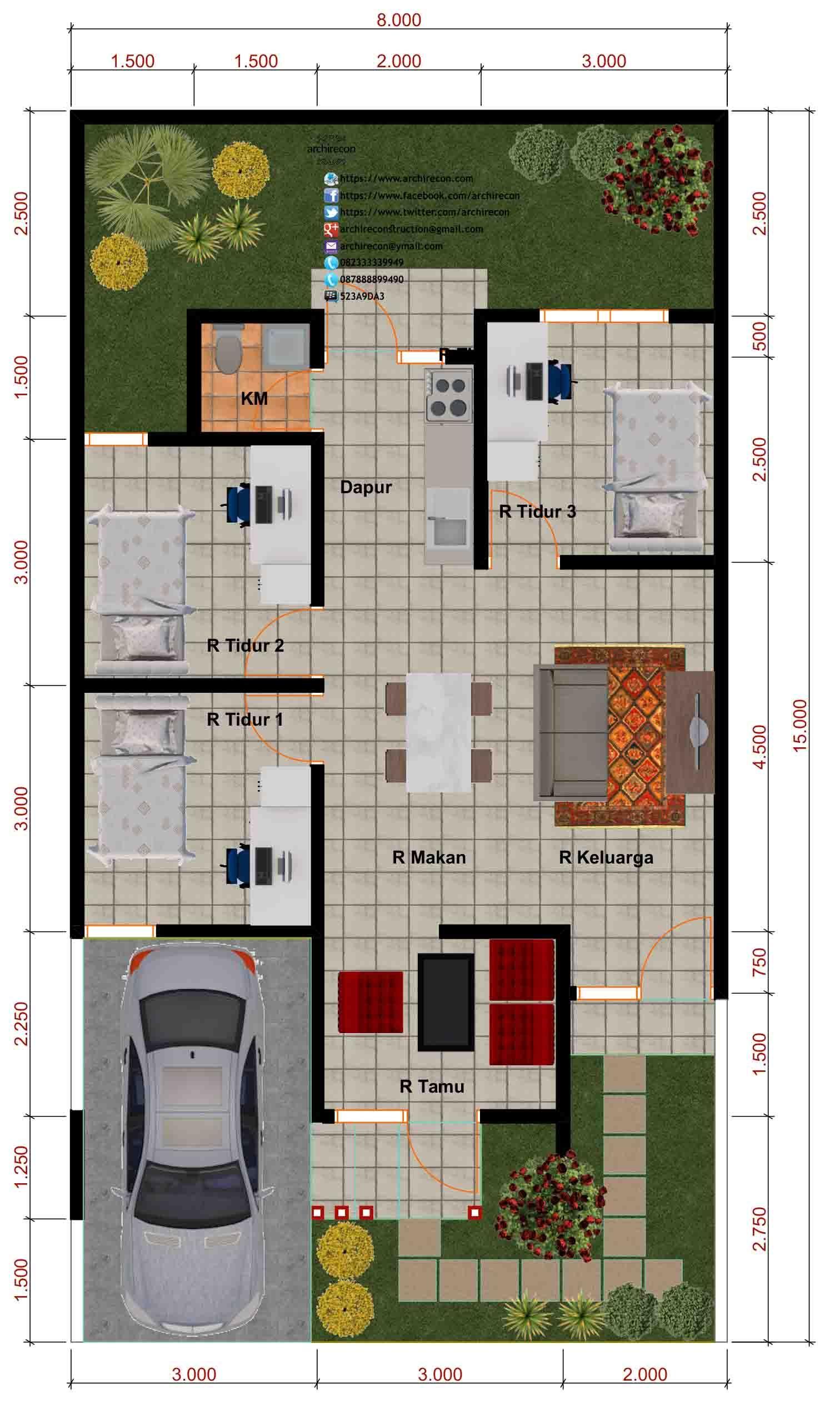 Desain Perumahan Minimalis Perumahan Graha Purwosari Regency Type