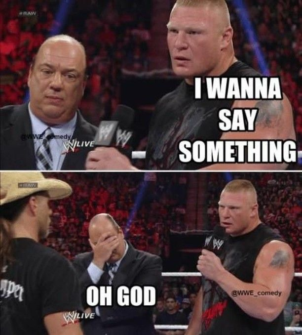 This is how the world feels when Brock grabs the mic. . . #brocklesnar #beastincarnate #brock #wwe #prowrestling #micskills #wwenetwork #professionalwrestling #prowrestler #raw #mondaynightraw