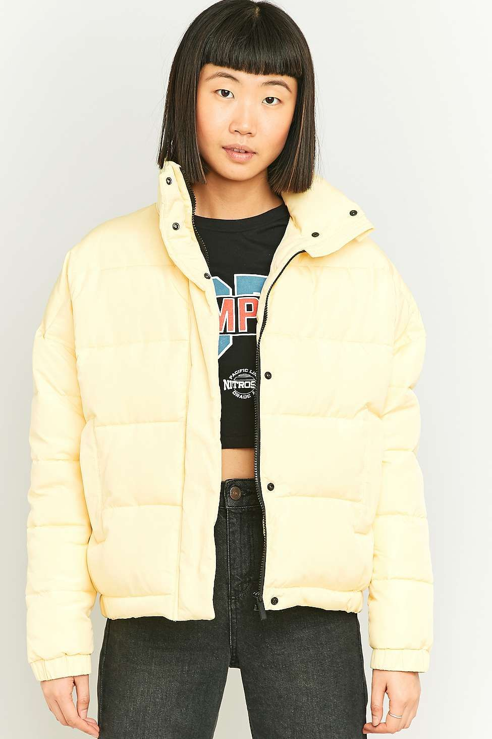 f4720adb80bdc Light Before Dark Cropped Puffer Jacket | Coats | Yellow puffer ...