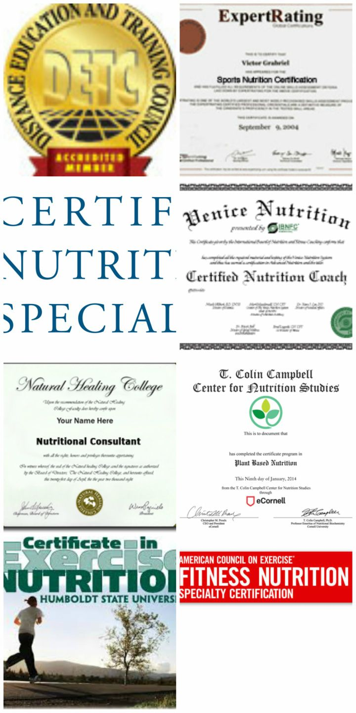 Nutrition Certificate Programs Nutrition Certification Programs