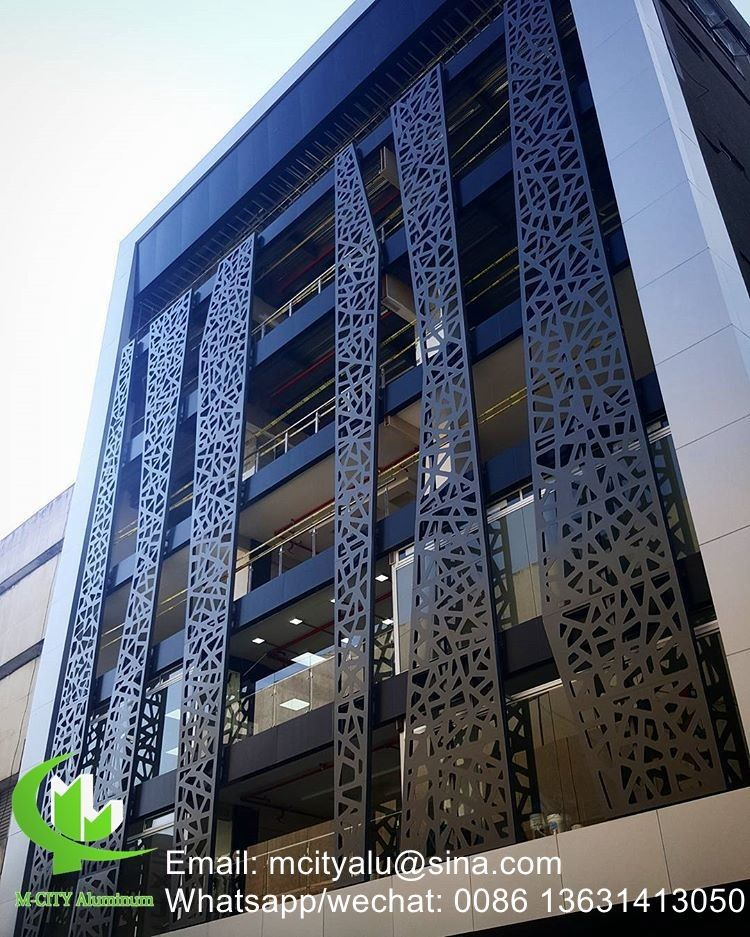 3d Aluminum Perforated Cladding Panel For Curtain Wall Facade