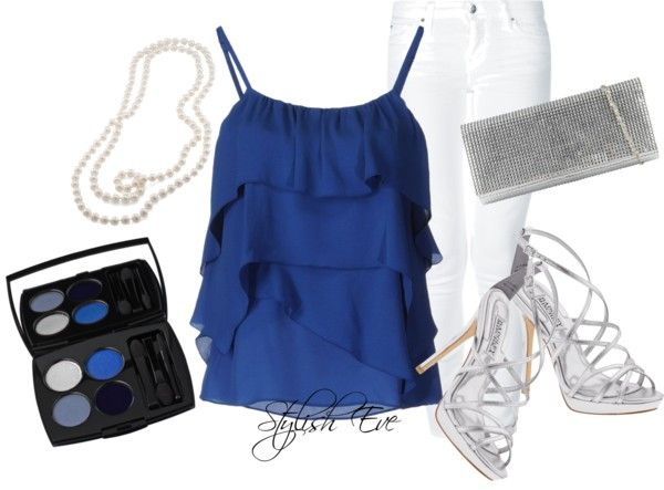 """""""Blue Night Out"""" by stylisheve ❤ liked on Polyvore"""