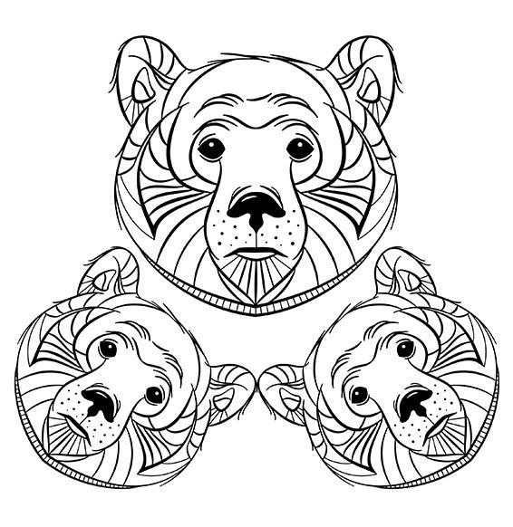Conte Ours Coloriage Mandala Mandala Animals Et Tattoos
