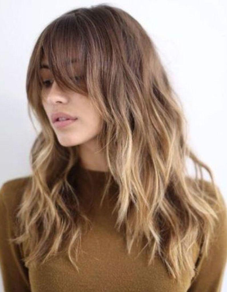 Ombré hair avec frange , Ombré hair  les plus beaux dégradés de couleur ,  Elle