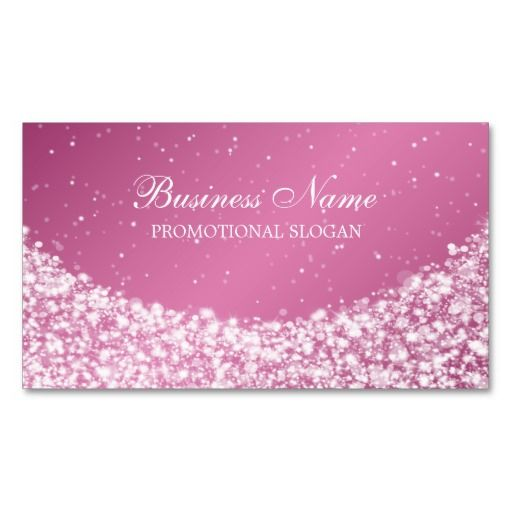 Glamorous star sparkle pink business card wedding theme business make a terrific first impression with this glamorous star sparkle purple business card customise this design as your own just in minutes reheart Gallery