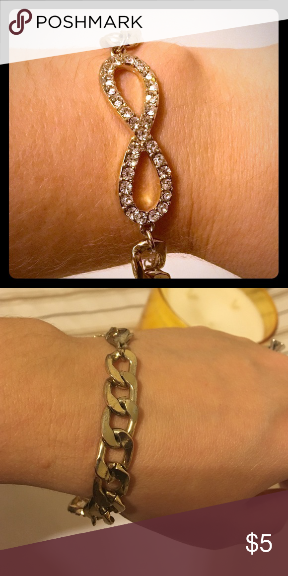 Claire's gold infinity bracelet Cute gold infinity bracelet Claire's Jewelry Bracelets