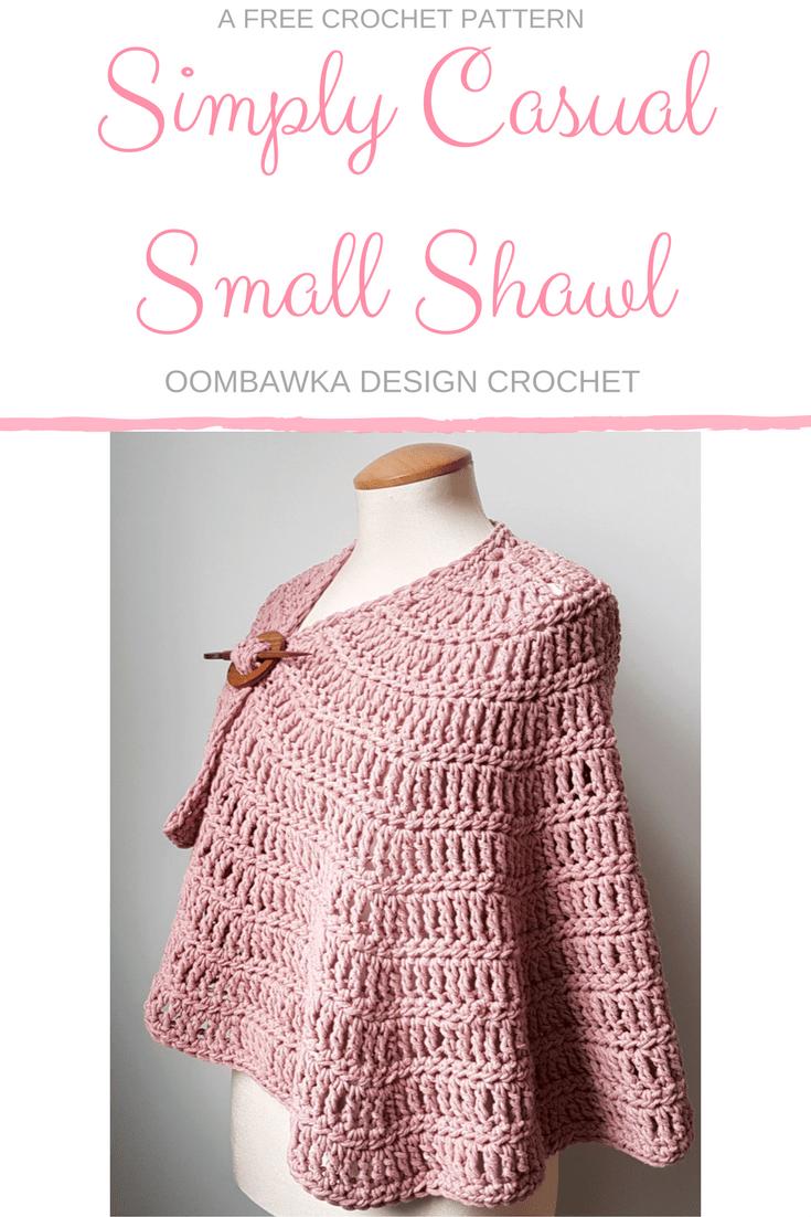 Simply Casual Small Shawl - Free Pattern Yarn: Mary Maxim Simply ...