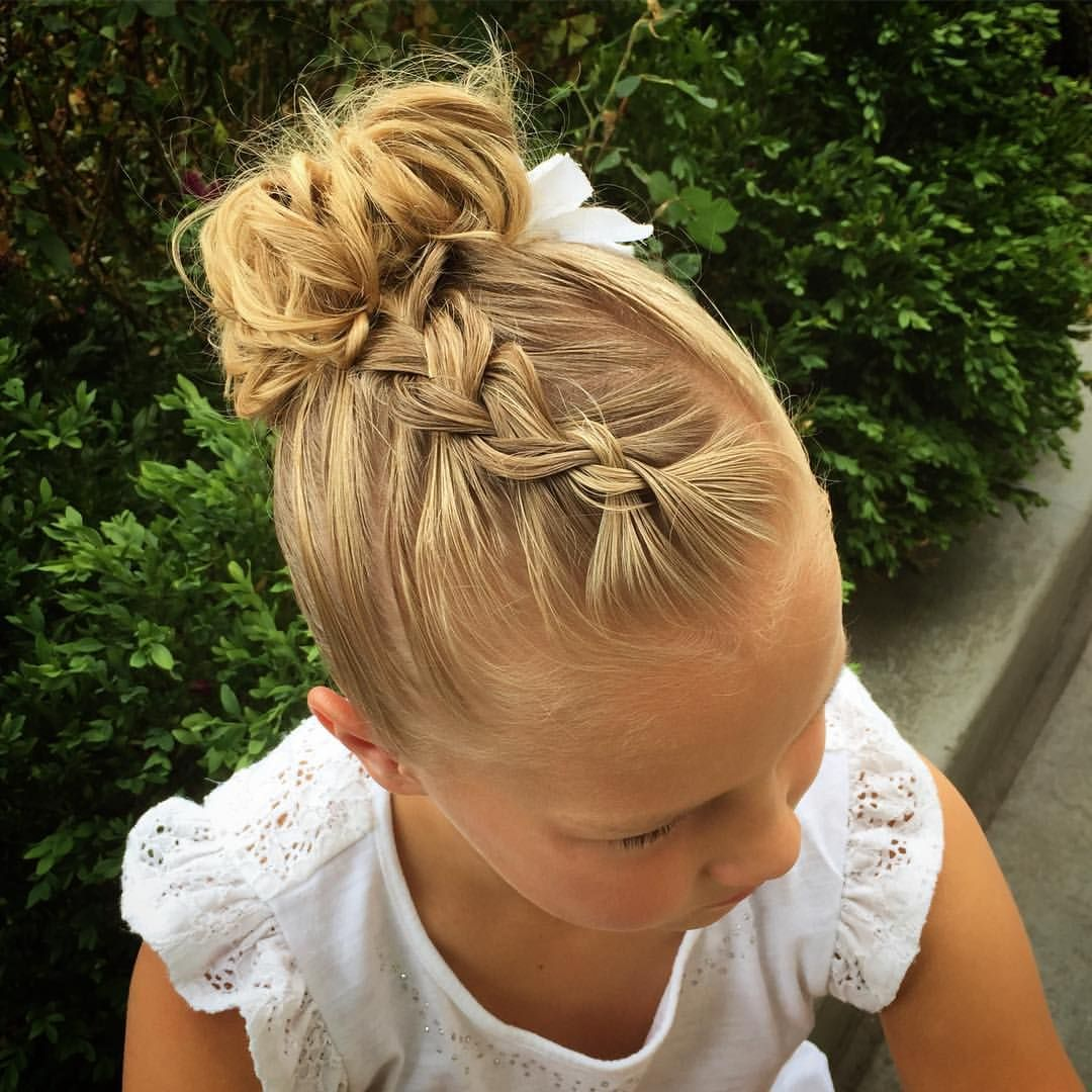 jehat hair — Hallie asked for a braid to a messy bun, so I did...