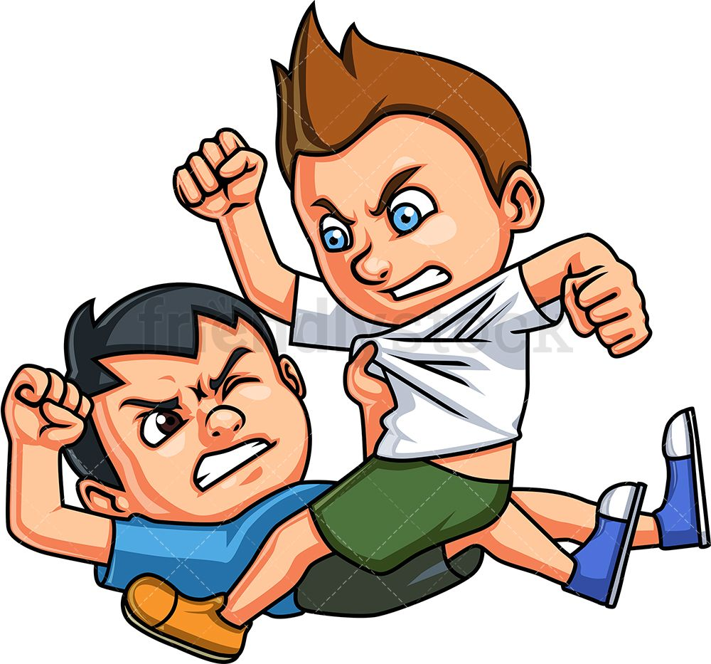 Little Boys Fighting With Images Kids Fighting Cartoon Boy
