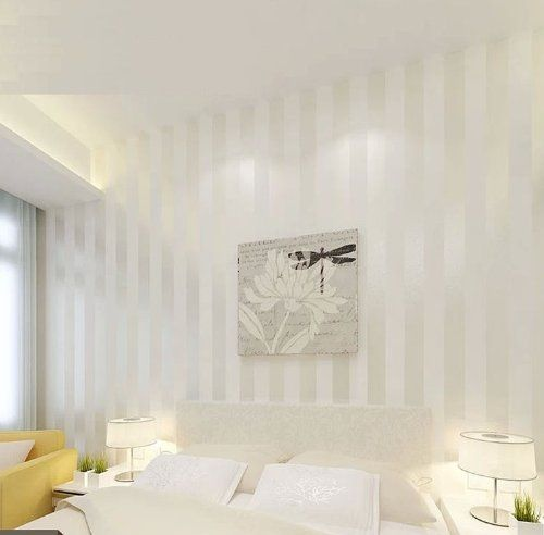Qihang European Modern Minimalist Country Luxury Stripe Wallpaper Roll For Living Room Bedroom Tv Backdrop Wall Cream White Color