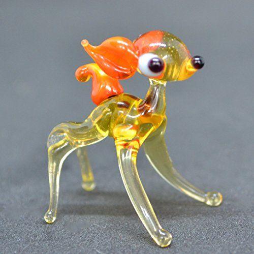 Small Glass Bembi Deer 1 inch Figurine Sculpture Mini Animals