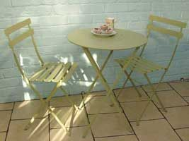 Fermob Willow Green Bistro Set 60cm Folding Table And Chairs