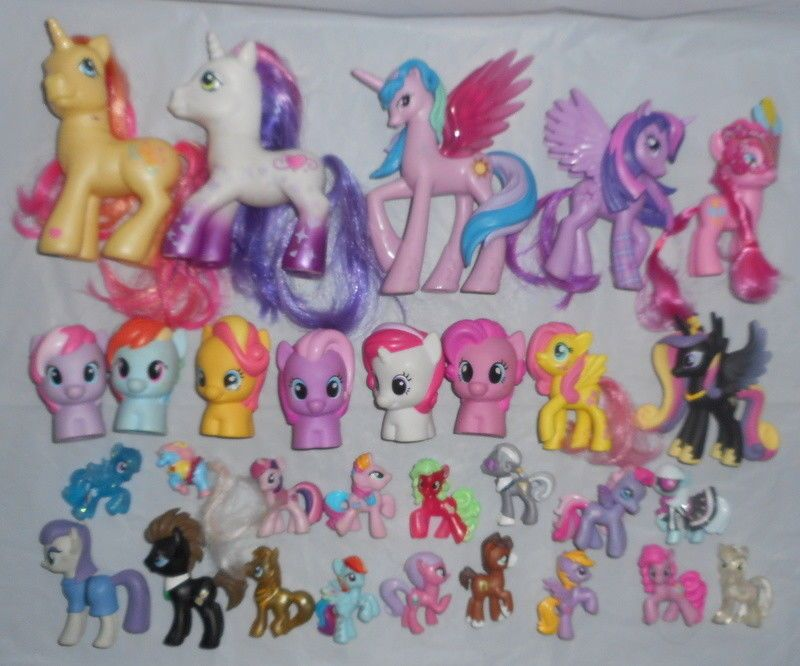 9a2674cfc01 LOT My Little Pony MLP Toy Figures G3 G4 Mini Glitter PLAYSKOOL Brushable  Molded  MyLittlePony  Gifts  Collectibles