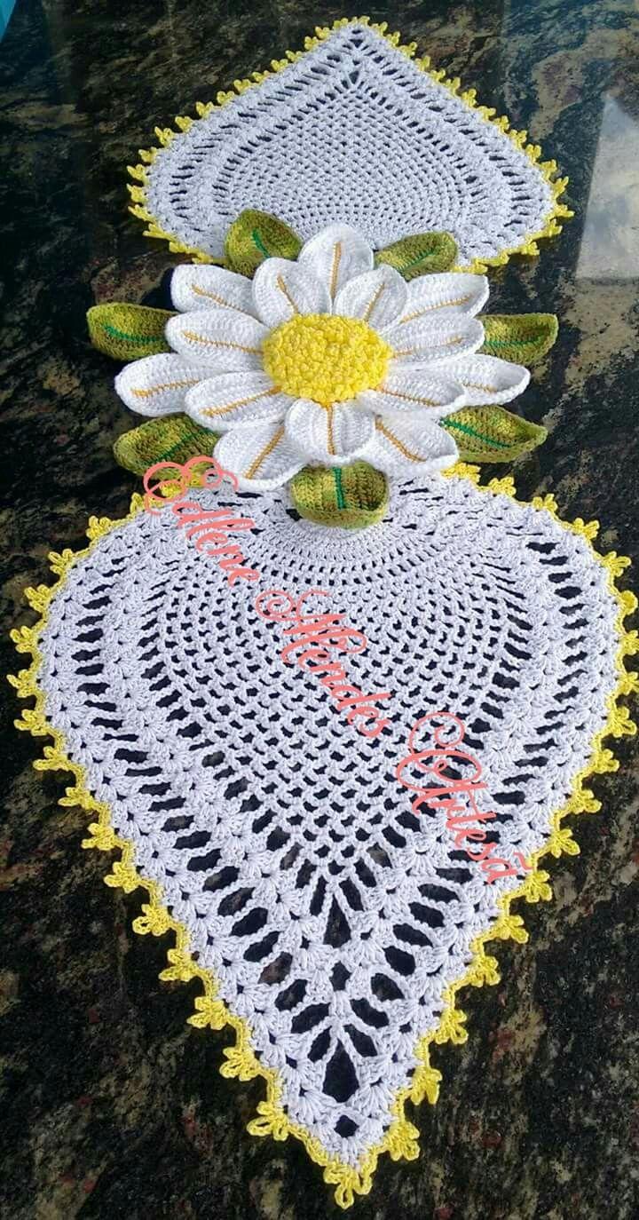 Pin de liliana en Tejido variado | Pinterest | Caminos de mesa ...