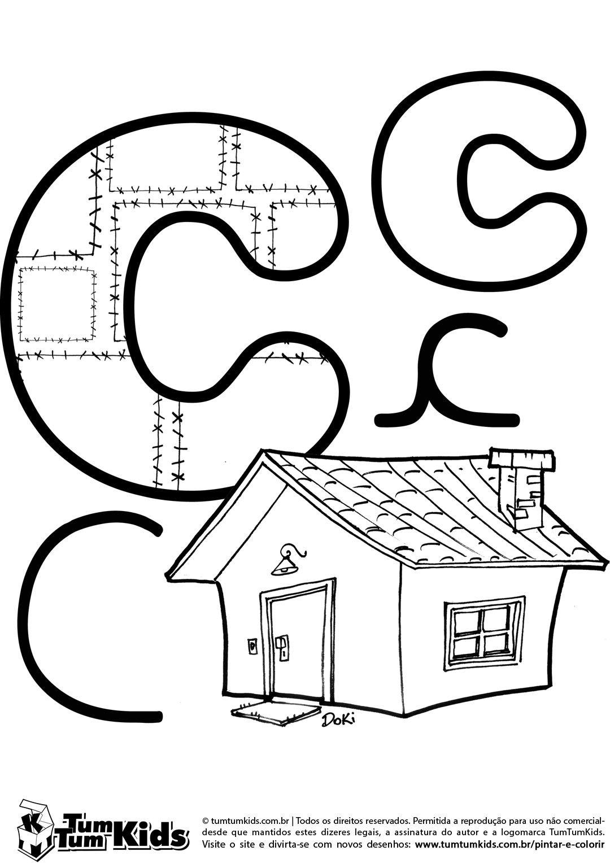 doki-alfabeto-letra-c-imprimir | alfabeto | Pinterest | Zeichen und ...