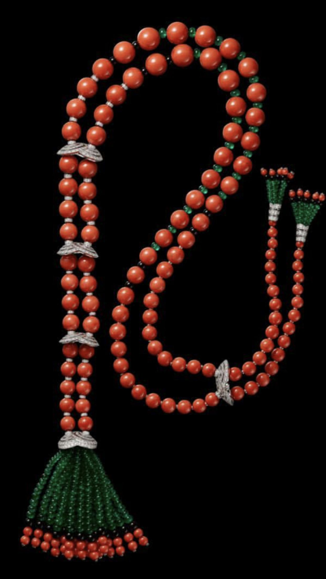 Pin By Marie Chonko On Diamond Necklaces Colour Stone Perls Jewellery Beautiful Necklaces Coral Jewelry Timeless Jewelry