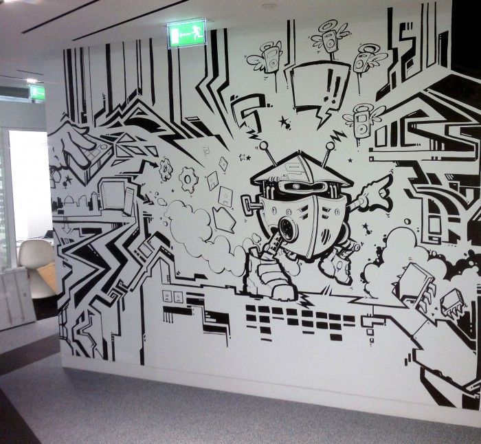 Creative Office Idea  Graffiti Art