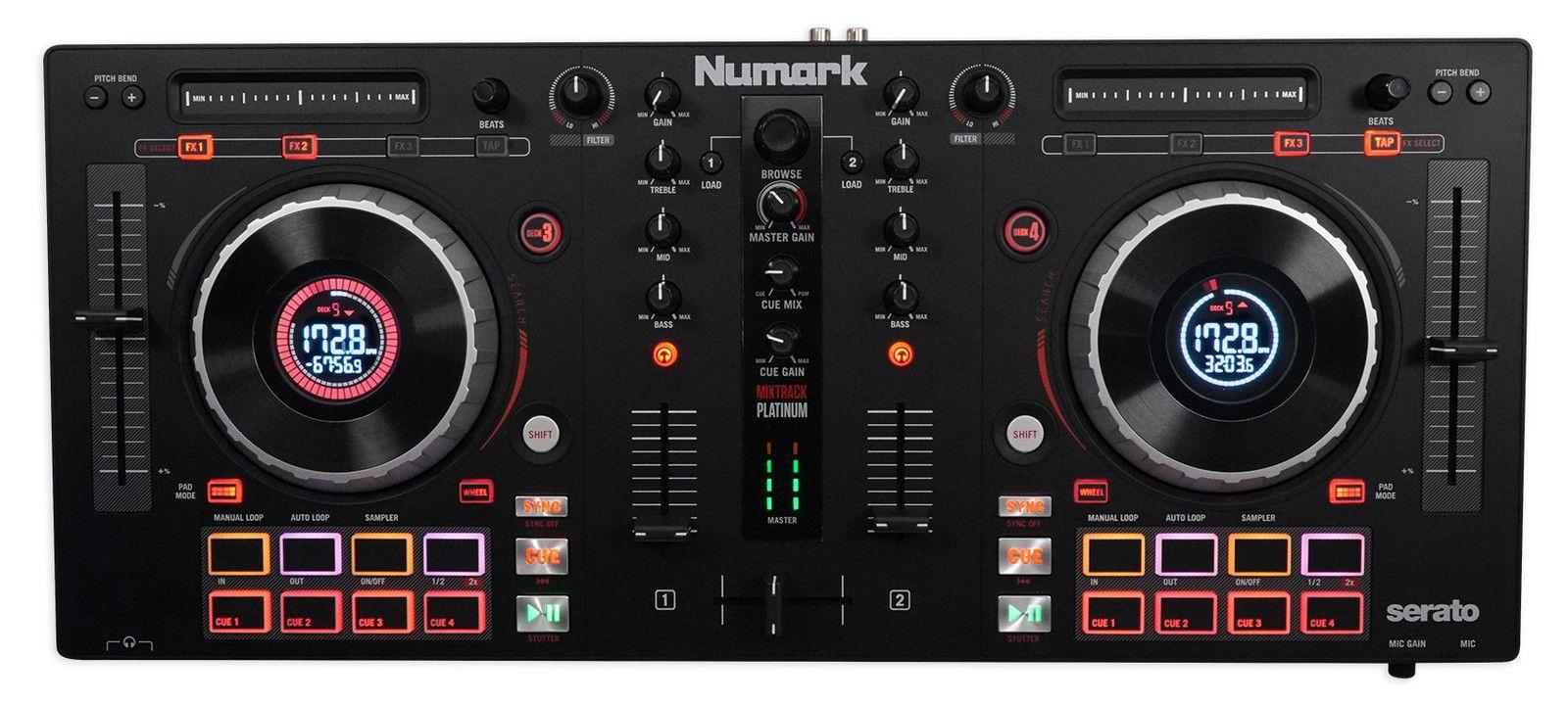 Numark Mixtrack Platinum 4-Ch  Serato DJ Controller w/ Jog