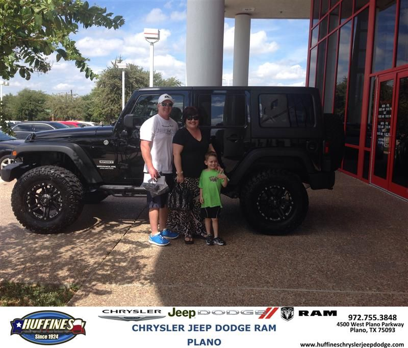 To Joel Hall From Billy Bolding At Huffines Chrysler Jeep Dodge RAM Plano!