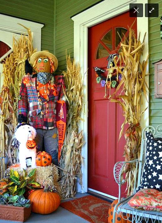 5 Non Scary Outdoor Halloween Decorations Halloween Front Porch Decor Halloween Porch Decorations Halloween Front Porch