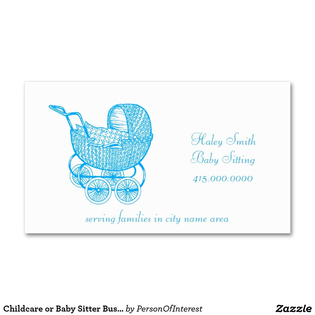 Childcare or Baby Sitter Business Cards | Business Cards & Profile ...