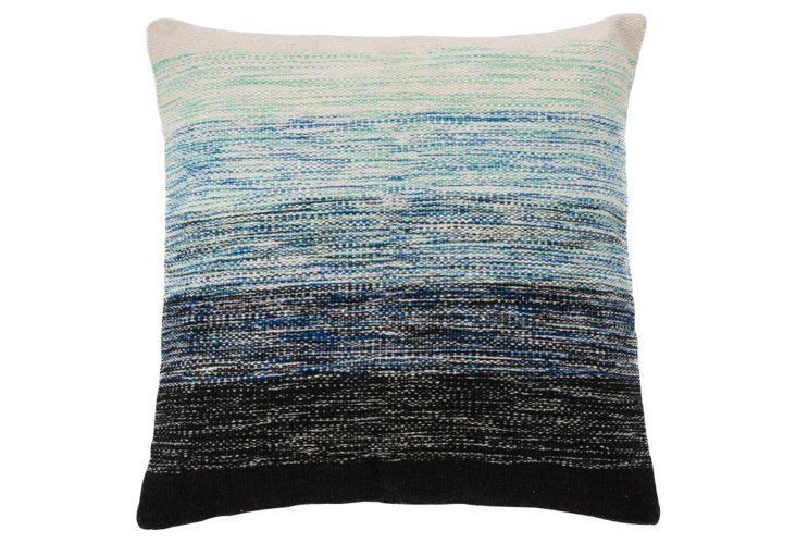 Ombré 18x18 Cotton Pillow. Multi