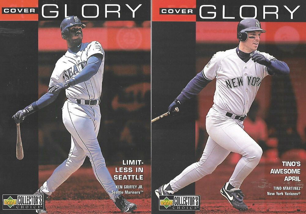 1998 upper deck collectors choice cover glory baseball lot