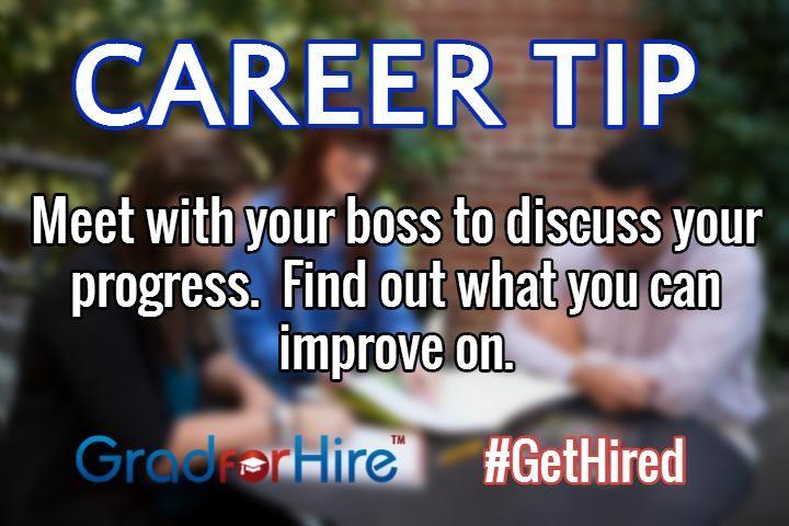 Careertip meet with your boss to discuss your progress