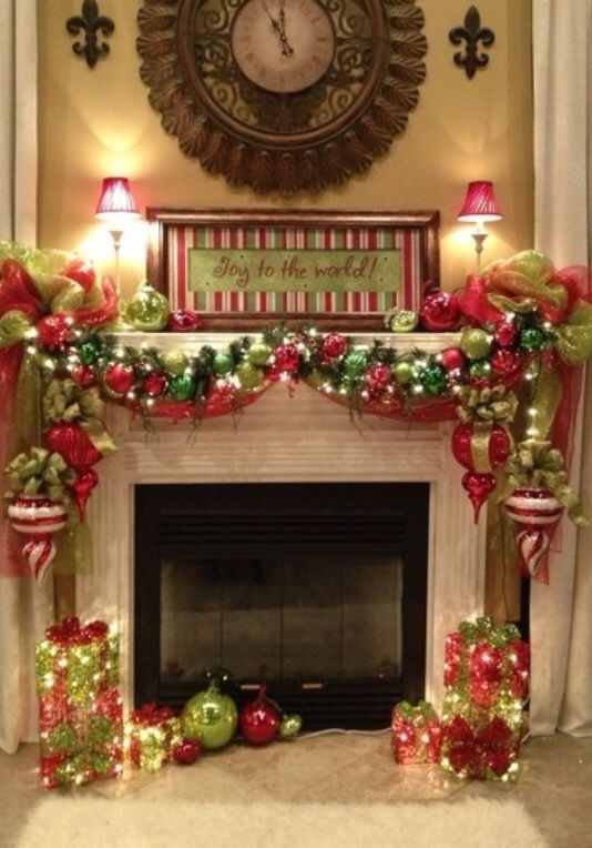 Christmas mantle Christmas Pinterest Mantle, Holidays and - christmas decorations for mantels
