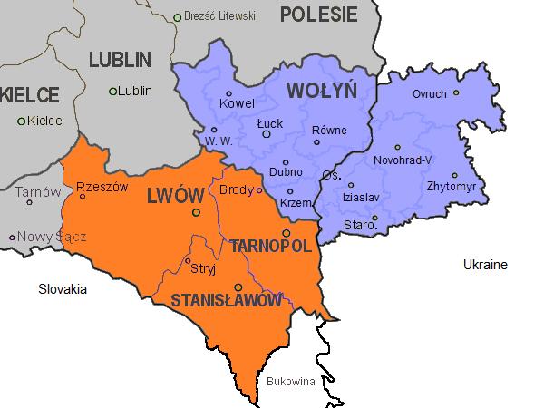 1939 - Map of Volhynia (blue) and Eastern Galicia (orange ... Galicia Ukraine Map on pale of settlement, second polish republic, ukrainian greek catholic church, fighting ukraine map, kingdom of galicia and lodomeria, hungarian plain on world map, ukraine regions map, russia ukraine map, jews in kremenets ukraine map, western ukraine map, donbass ukraine map, east ukraine map, rebel ukraine map, duchy of warsaw, zhytomyr ukraine map, carpathian ruthenia, slavuta ukraine map, yalta ukraine map, georgia ukraine map, yavoriv ukraine map, carpathian mountains, poland ukraine map, 2014 ukraine map, capital of ukraine map, turkey ukraine map, ato ukraine map, bessarabia ukraine map,
