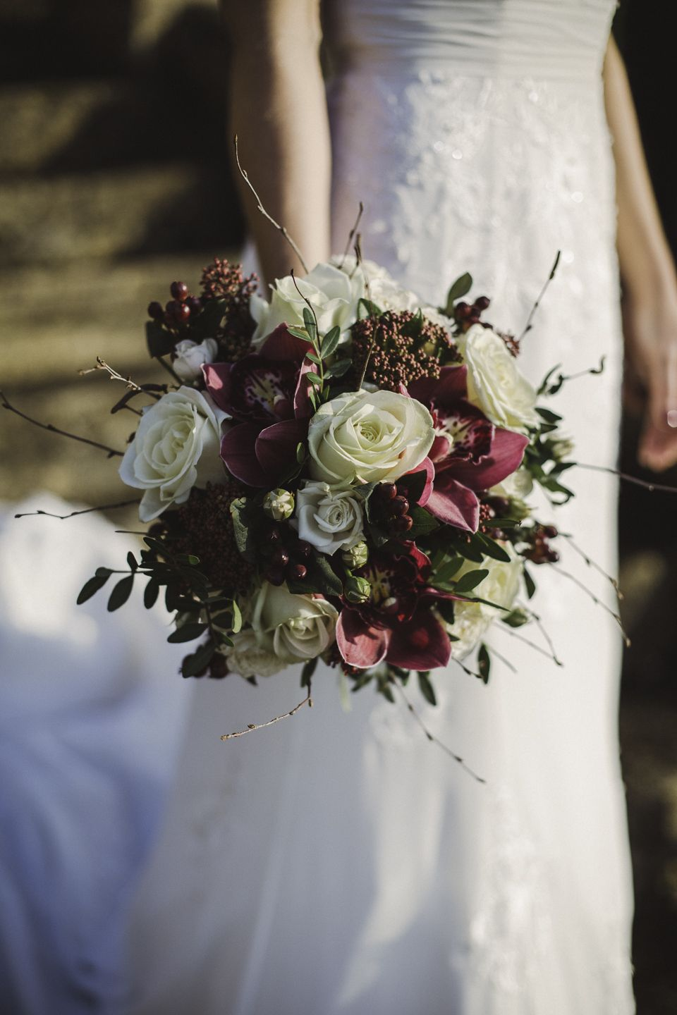 1940's style wedding bouquets  A us Inspired Elegant Autumn Wedding in the Cotswolds