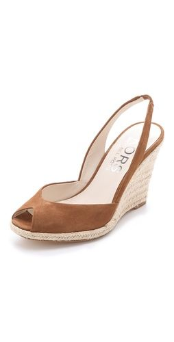 4de2c5b279cae Espadrille wedge peep toes  white to brown- Wedding Shoes into ...