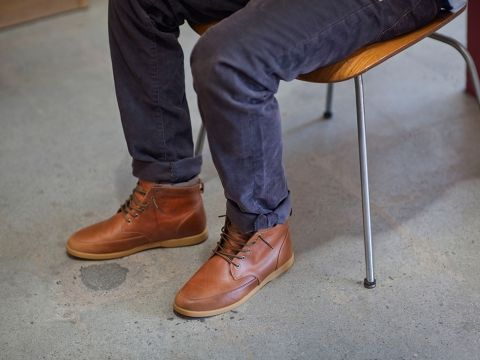 Men/'s Heavenly Feet Tom Brown Lace up Shoes