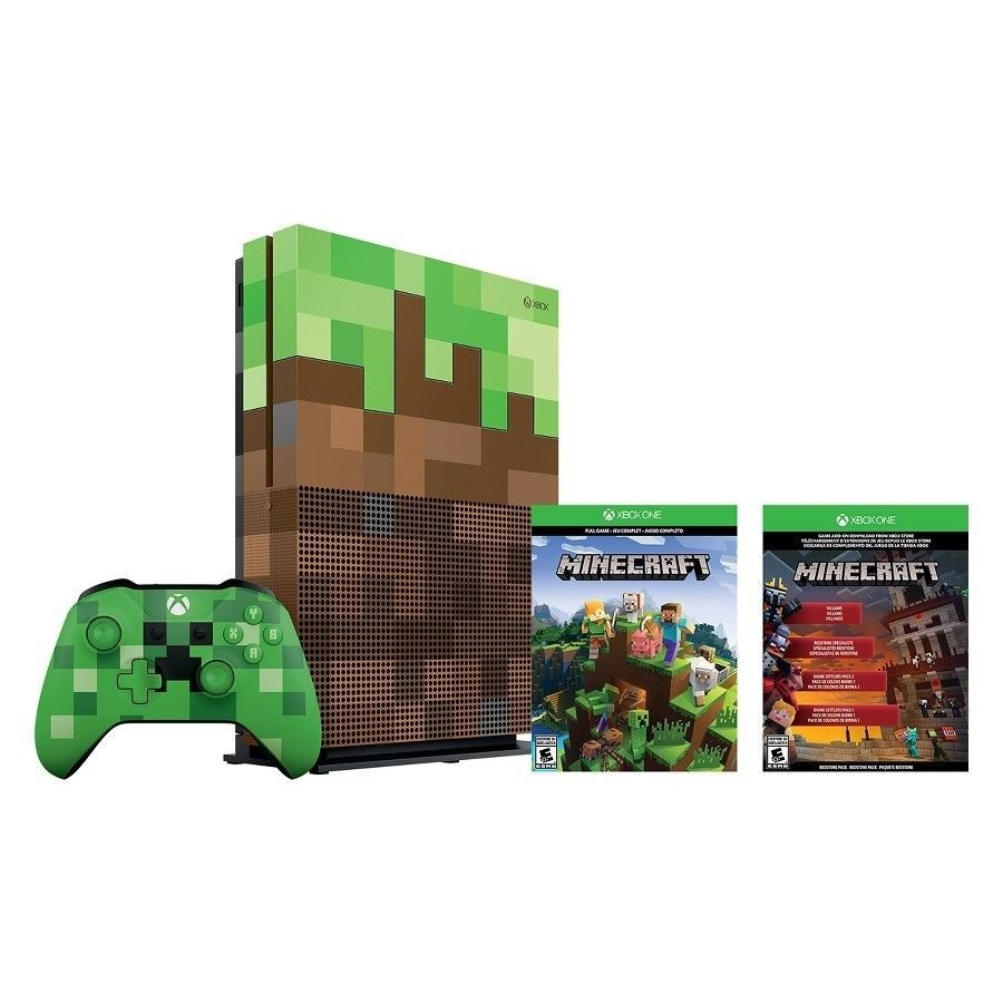 Xbox One S Minecraft Bundle 11TB Limited Edition Console - NEW